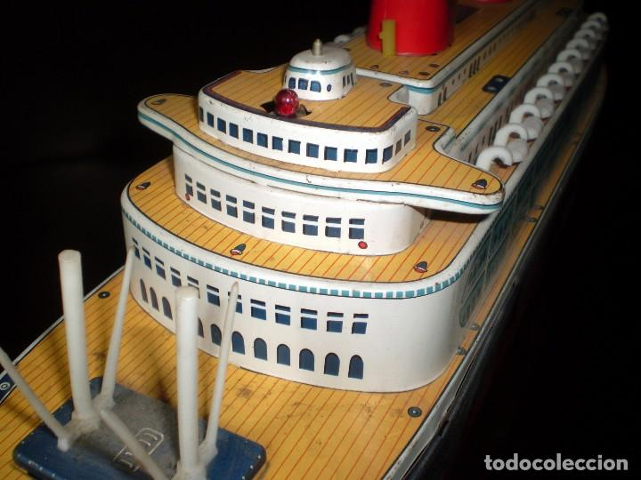 Juguetes antiguos de hojalata: Trasatlántico Modern Toys. Japan. 1950-60. Difícil. - Foto 4 - 70503501