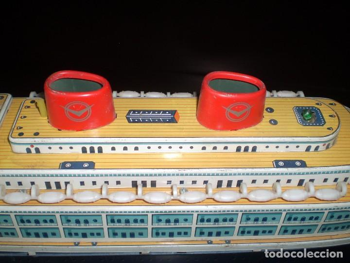 Juguetes antiguos de hojalata: Trasatlántico Modern Toys. Japan. 1950-60. Difícil. - Foto 5 - 70503501