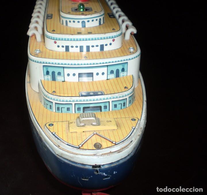 Juguetes antiguos de hojalata: Trasatlántico Modern Toys. Japan. 1950-60. Difícil. - Foto 6 - 70503501