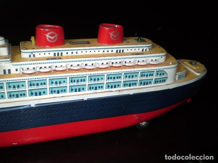 Juguetes antiguos de hojalata: Trasatlántico Modern Toys. Japan. 1950-60. Difícil. - Foto 8 - 70503501