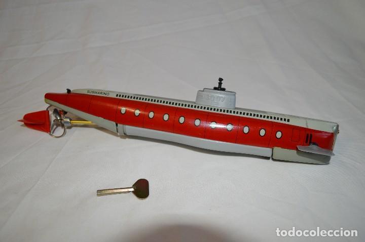 Juguetes antiguos de hojalata: Antiguo submarino 3007 de Schuco Años 60. Alemania. romanjuguetesymas. - Foto 2 - 71156845