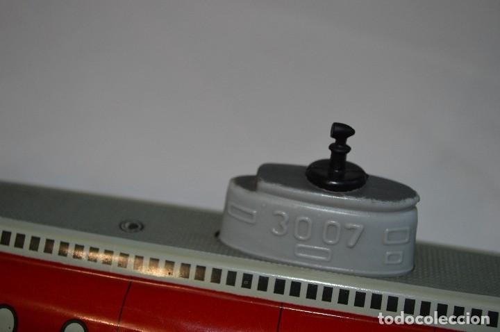 Juguetes antiguos de hojalata: Antiguo submarino 3007 de Schuco Años 60. Alemania. romanjuguetesymas. - Foto 5 - 71156845