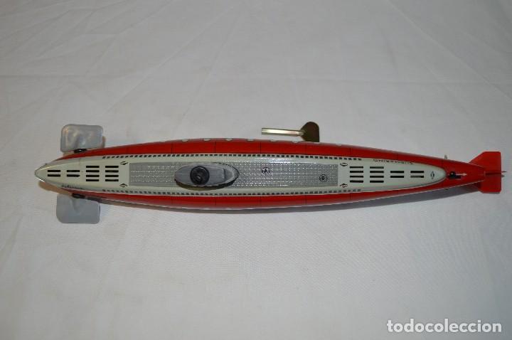 Juguetes antiguos de hojalata: Antiguo submarino 3007 de Schuco Años 60. Alemania. romanjuguetesymas. - Foto 8 - 71156845