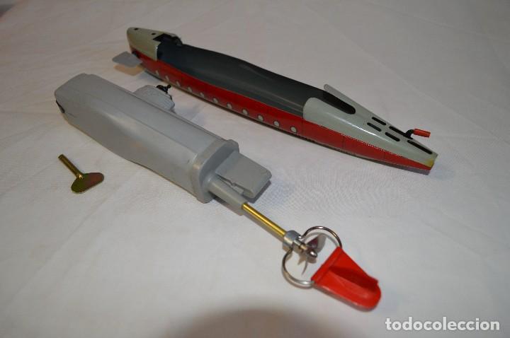 Juguetes antiguos de hojalata: Antiguo submarino 3007 de Schuco Años 60. Alemania. romanjuguetesymas. - Foto 14 - 71156845