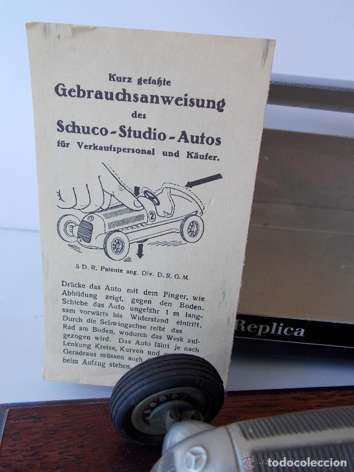 Juguetes antiguos de hojalata: juguete coche de hojalata Schuco STUDIO 1050 Mercedes Silberpfeil Año 1984 - Foto 3 - 71601615