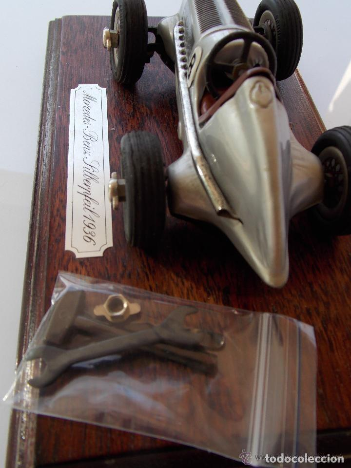 Juguetes antiguos de hojalata: juguete coche de hojalata Schuco STUDIO 1050 Mercedes Silberpfeil Año 1984 - Foto 4 - 71601615