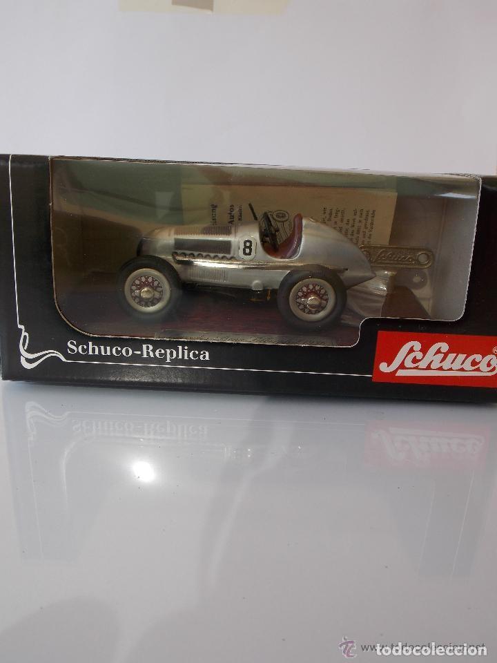 Juguetes antiguos de hojalata: juguete coche de hojalata Schuco STUDIO 1050 Mercedes Silberpfeil Año 1984 - Foto 6 - 71601615