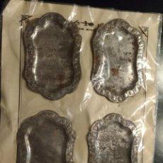 Juguetes antiguos de hojalata: CARTON JUGUETE CON 4 BANDEJITAS EN HOJALATA, MAX GUT LEON 1940. Lote 75234289