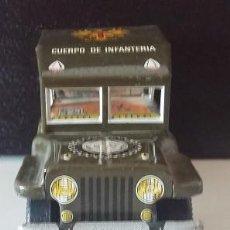 Juguetes antiguos de hojalata: PAYVA. COCHE JEEP DE HOJALATA CUERPO DE INFANTERIA. ORIGINAL AÑOS 70 IBI JUGUETES. Lote 73607867
