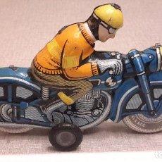 Juguetes antiguos de hojalata: BALLON CORDATIC. MOTO DE HOJALATA.. Lote 74332331