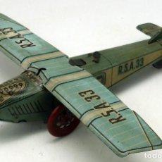 Altes Blechspielzeug - Avioneta RSA 33 Rico a cuerda Hojalata Funciona años 40 - 75228503