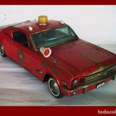 Tin Toys - Ford Mustang bomberos coche hojalata - 75997035