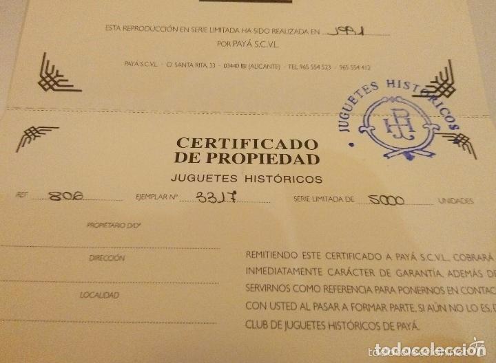 Juguetes antiguos de hojalata: REPRODUCCION LIMITADA AUTOBUS LA GENERAL DE PAYA - COLECCION JUGUETES HISTORICOS-DE IBI - Foto 3 - 76645483