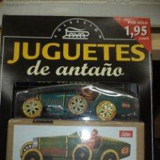 Juguetes antiguos de hojalata: JUGUETES DE ANTAÑO PAYÁ.FASCÍCULO 1º BUGATTI 1930.. Lote 76701159