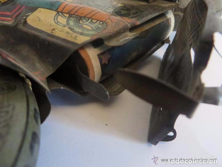 Juguetes antiguos de hojalata: MOTO RICO DE HOJALATA AÑOS 30-UNICA EN TODO COLECCION- - Foto 14 - 76971229