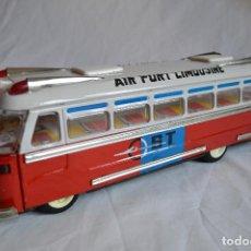 Juguetes antiguos de hojalata: ANTIGUO AUTOBÚS AIRPORT LIMOUSINE MF 910. A FRICCIÓN. ROMANJUGUETESYMAS.. Lote 78142565
