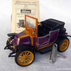 Juguetes antiguos de hojalata: SCHUCO OLDTIMER RENAULT 6CV 1911 CON MECANISMO A RESORTE. Lote 82677768