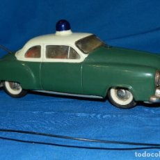 Juguetes antiguos de hojalata: COCHE MARCA SCHUCO ELECTRO ALARM-CAR 5354 , MADE IN WESTERN GERMANY ,21 X 9 CM. Lote 86290320