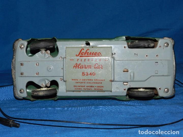Juguetes antiguos de hojalata: COCHE MARCA SCHUCO ELECTRO ALARM-CAR 5354 , MADE IN WESTERN GERMANY ,21 X 9 CM - Foto 6 - 86290320