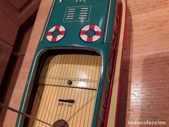 Juguetes antiguos de hojalata: Masudaya modern toys ,Radicon Boat, años 50 made in japan, funcionando perfecto. - Foto 3 - 86436808
