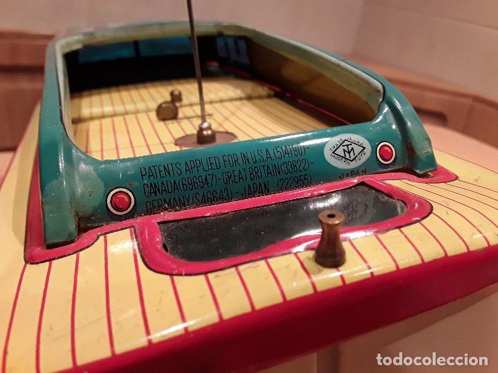 Juguetes antiguos de hojalata: Masudaya modern toys ,Radicon Boat, años 50 made in japan, funcionando perfecto. - Foto 6 - 86436808