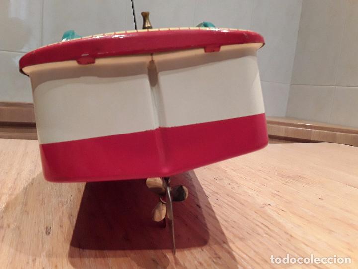 Juguetes antiguos de hojalata: Masudaya modern toys ,Radicon Boat, años 50 made in japan, funcionando perfecto. - Foto 7 - 86436808