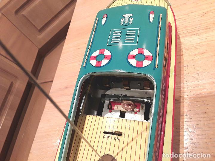 Juguetes antiguos de hojalata: Masudaya modern toys ,Radicon Boat, años 50 made in japan, funcionando perfecto. - Foto 10 - 86436808