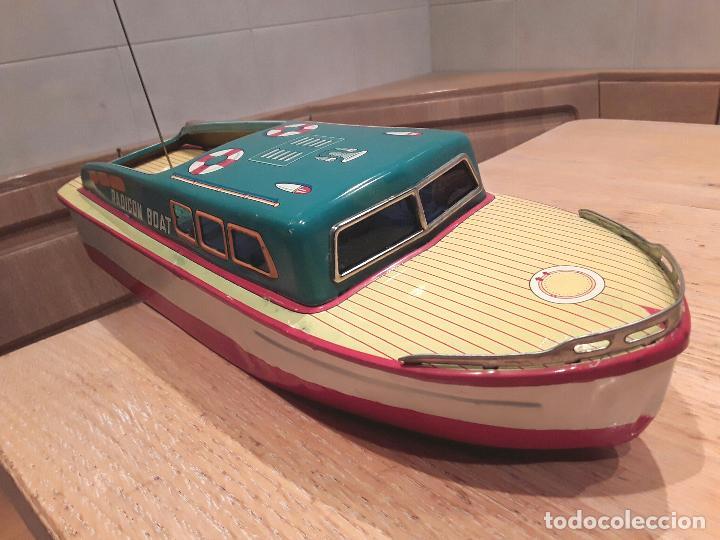 Juguetes antiguos de hojalata: Masudaya modern toys ,Radicon Boat, años 50 made in japan, funcionando perfecto. - Foto 11 - 86436808