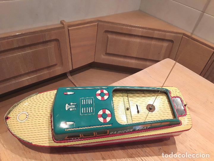 Juguetes antiguos de hojalata: Masudaya modern toys ,Radicon Boat, años 50 made in japan, funcionando perfecto. - Foto 13 - 86436808