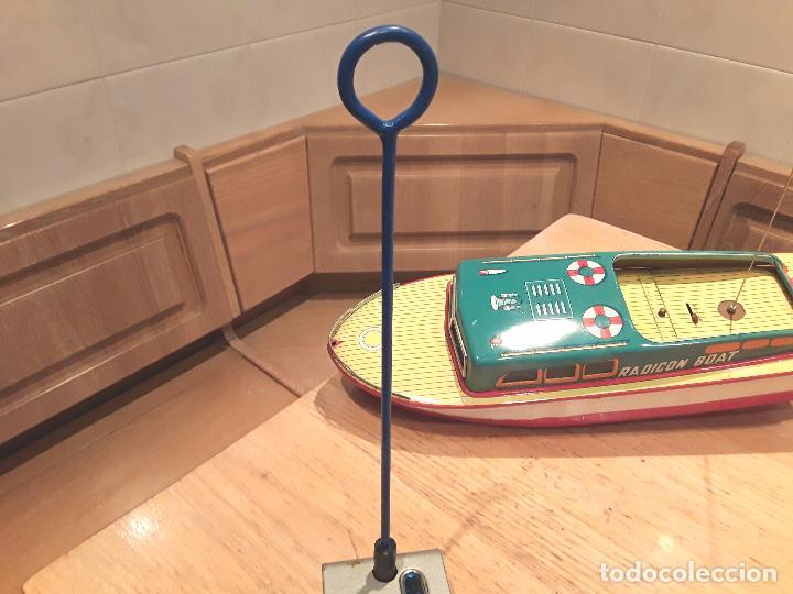 Juguetes antiguos de hojalata: Masudaya modern toys ,Radicon Boat, años 50 made in japan, funcionando perfecto. - Foto 14 - 86436808