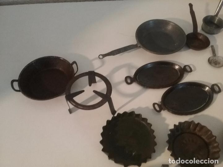 Juguetes antiguos de hojalata: ANTIGUOS CACHARRITOS DE METAL HOJALATA PARA COCINAS Ó COCINITAS - Foto 6 - 87075828