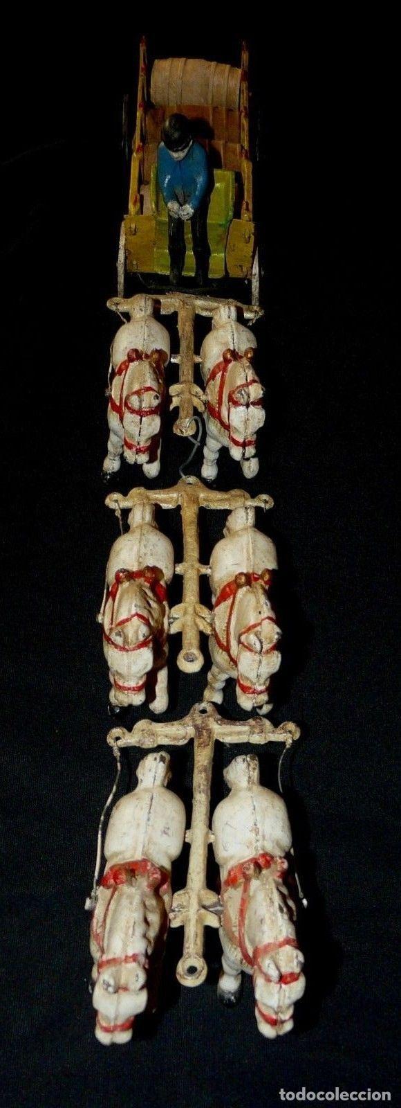 Juguetes antiguos de hojalata: ENORME Y ANTIGUO CARRO EN HIERRO DE MUSEO 6 CABALLOS 65 CM 3,5 Kg PRECIOSA ESCULTURA SIGLO XIX 476,0 - Foto 2 - 88403960