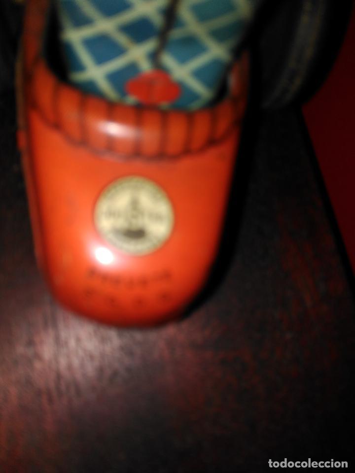 Juguetes antiguos de hojalata: ANTIGUO COCHE HOJALATA CUERDA CONSERVA LLAVE JOUSTRA FIRMADO SIMILAR PAYA PAYASO BIMBO FUNCIONANDO - Foto 4 - 88964424