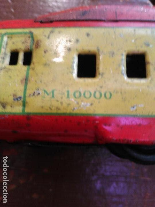 Juguetes antiguos de hojalata: RARISIMO ANTIGUO TREN HOJALATA CUERDA FUNCIONANDO MADE JAPON 31 CM MARCA CK SIMIL PAYA P.V.P.1240,0 - Foto 11 - 89158336