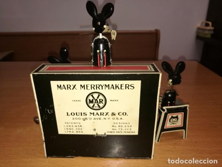 Juguetes antiguos de hojalata: FANTASTICA PIEZA MERRY MAKERS BAND DE LOUIS MARX. 1929 - Foto 4 - 89724276