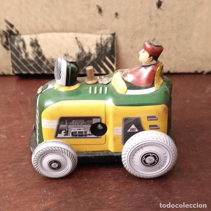 Juguetes antiguos de hojalata: Juguete hojalata Tractor a cuerda - Nuevo - Foto 2 - 90047144