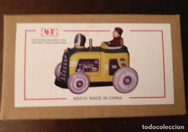 Juguetes antiguos de hojalata: Juguete hojalata Tractor a cuerda - Nuevo - Foto 8 - 90047144