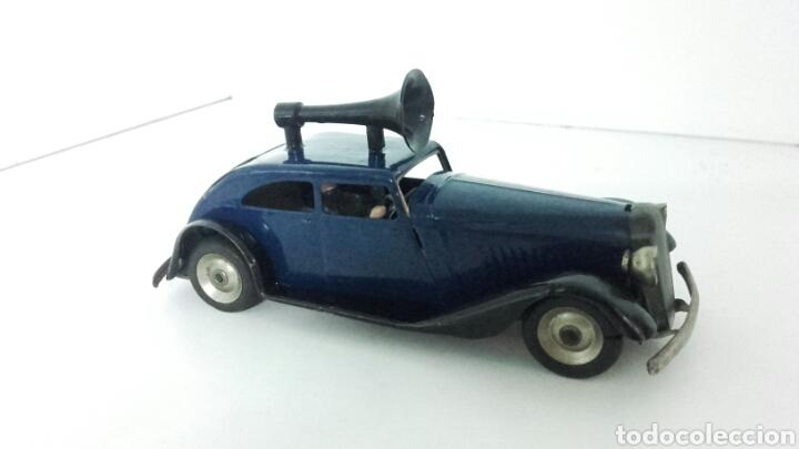Juguetes antiguos de hojalata: ANTIGUO coche megafono tri-ang MINIC TOYS DE HOJALATA - Foto 2 - 222698525