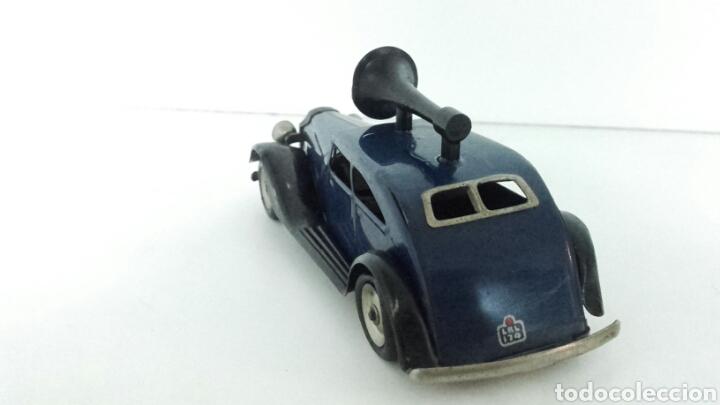 Juguetes antiguos de hojalata: ANTIGUO coche megafono tri-ang MINIC TOYS DE HOJALATA - Foto 4 - 222698525