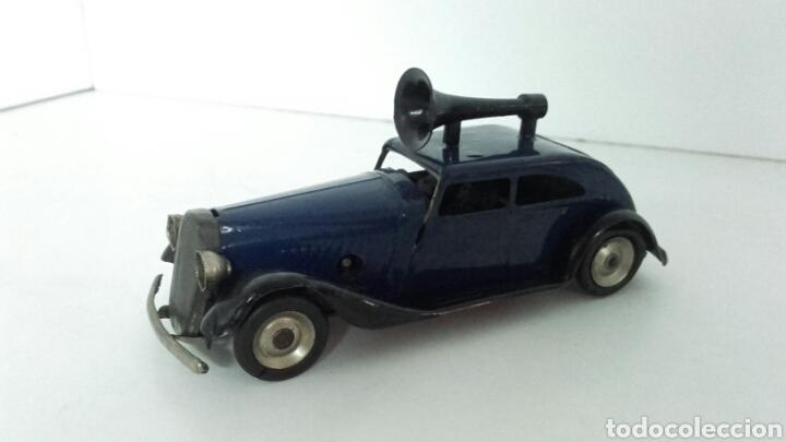 Juguetes antiguos de hojalata: ANTIGUO coche megafono tri-ang MINIC TOYS DE HOJALATA - Foto 5 - 222698525
