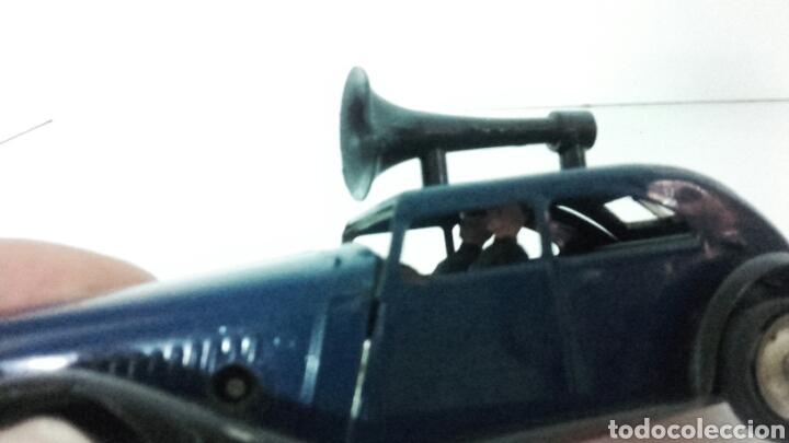 Juguetes antiguos de hojalata: ANTIGUO coche megafono tri-ang MINIC TOYS DE HOJALATA - Foto 6 - 222698525