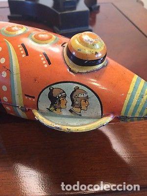 Juguetes antiguos de hojalata: ANTIGUA NAVE ESPACIAL HOJALATA AÑOS 20 Original Louis Marx & Co Buck Rogers cohete SIMIL PAYA 899,00 - Foto 6 - 139121089