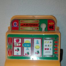Juguetes antiguos de hojalata: UNICA TC FJ FRANCE JOUETS JACKPOTS SLOT MACHINE TABLE TOP TOY MODEL FOR FAKE MONEY MIB 65. Lote 93872594