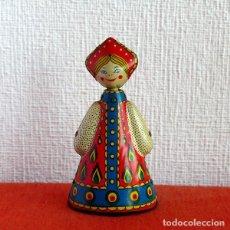 Juguetes antiguos de hojalata: BAILARINA RUSA DE CUERDA. Lote 93932205