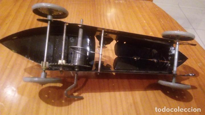 Juguetes antiguos de hojalata: Coche de carreras paya autentico reproduccion en serie numerada 22 cm largo - Foto 3 - 94409218