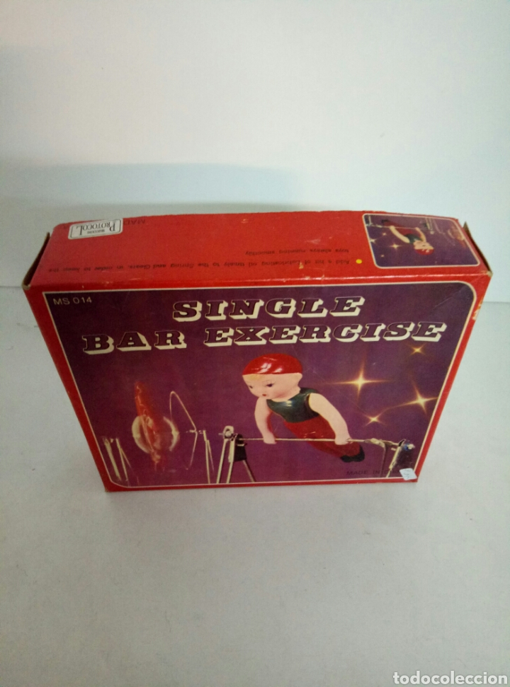 Juguetes antiguos de hojalata: GIMNASTA CHINA SINGLE BAR EXPERIENCE - Foto 4 - 94636260