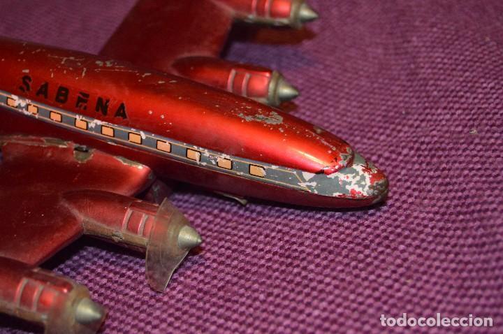 Juguetes antiguos de hojalata: INGAP SUPER CONSTELLATION - MADE IN ITALY - ROJO CON LIBREA DE SABENA - MIRA LAS FOTOS - VINTAGE - Foto 4 - 94890731