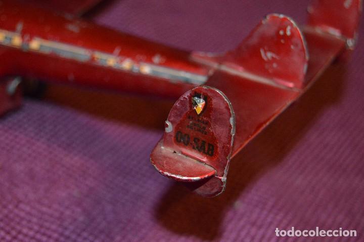 Juguetes antiguos de hojalata: INGAP SUPER CONSTELLATION - MADE IN ITALY - ROJO CON LIBREA DE SABENA - MIRA LAS FOTOS - VINTAGE - Foto 14 - 94890731