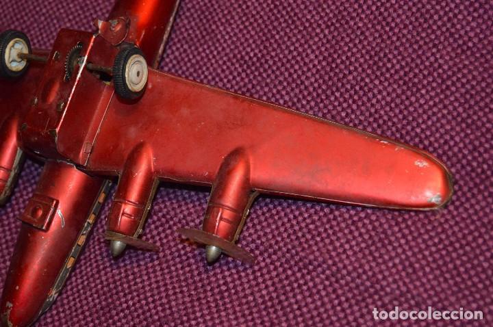 Juguetes antiguos de hojalata: INGAP SUPER CONSTELLATION - MADE IN ITALY - ROJO CON LIBREA DE SABENA - MIRA LAS FOTOS - VINTAGE - Foto 17 - 94890731