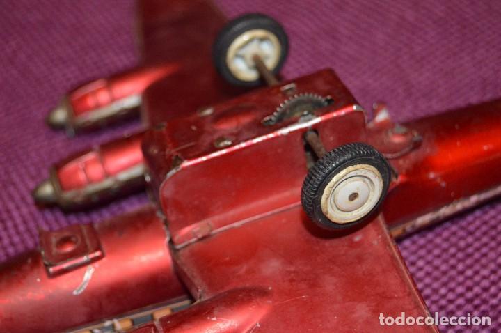 Juguetes antiguos de hojalata: INGAP SUPER CONSTELLATION - MADE IN ITALY - ROJO CON LIBREA DE SABENA - MIRA LAS FOTOS - VINTAGE - Foto 19 - 94890731